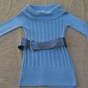 XL Candies Grey Sweater Dress with Belt